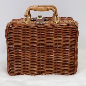"Vintage Wicker ""Lunch Box"" Bag"